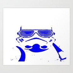 Blue Trooper Art Print
