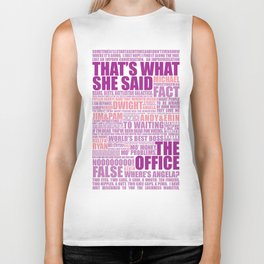 The Office (Purple and Pink) Biker Tank