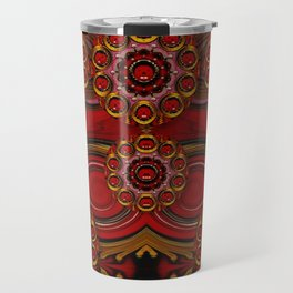 pumkins  in  gold and candles smiling Travel Mug