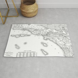 Southern California Map Rug