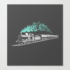 Butterfly Train Canvas Print