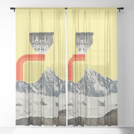 A Good Morning To You Sheer Curtain