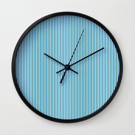 Blue Pinstripes Wall Clock