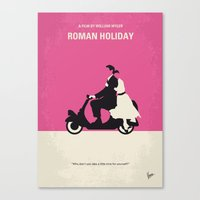 entourage Canvas Prints featuring No205 My Roman Holiday minimal movie poster by Chungkong