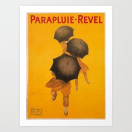 Vintage Advertising Poster - Parapluie Revel by Leonetto Cappiello Art Print