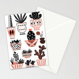 Mid-Century Modern Cacti Stationery Cards