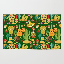 Fiesta Time! Mexican Icons Rug