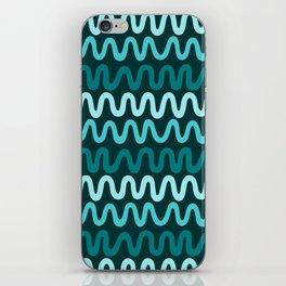 Bold Teal Waves iPhone Skin