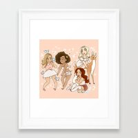 kendrawcandraw Framed Art Prints featuring Princesses by kendrawcandraw