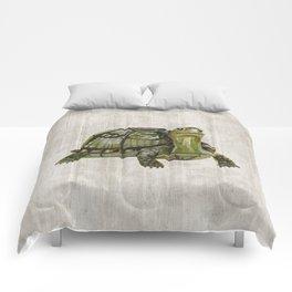 Little Turtle, Forest Animals, Woodland Decor, Woodland Art, Comforters