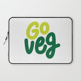 Go Veg sticker Laptop Sleeve