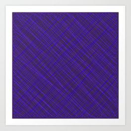 Royal ornament of their violet threads and luminous intersecting fibers. Art Print