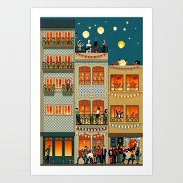 Porto Houses - Portugal Art Print