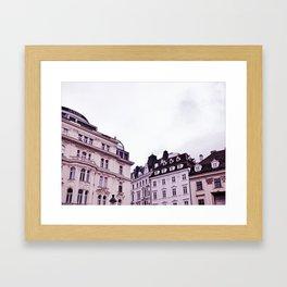 haussmann's pink period Framed Art Print