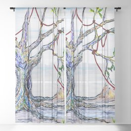 Roots Sheer Curtain