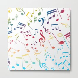 Musical Notes 5 Metal Print