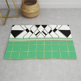 Mosaic: Teal Tile Rug
