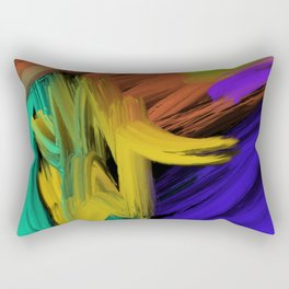 Abstract 3 Painting in Oil Rectangular Pillow