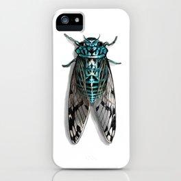 Turquoise Cicada iPhone Case