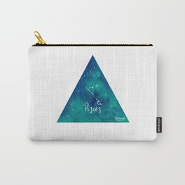 Pisces - Astrology Mixed Media Carry-All Pouch