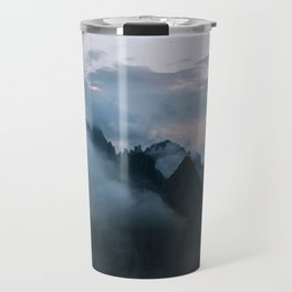 Dolomite Mountains Sunset covered in Clouds - Landscape Photography Travel Mug