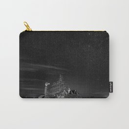 Neverwinter - Abandoned House Under Starry Night Sky in Black and White Carry-All Pouch