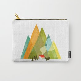 House at the foot of the mountains Carry-All Pouch