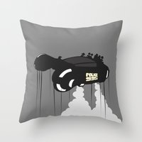 police Throw Pillows featuring Police 995 by Tony Vazquez