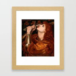 "Dante Gabriel Rossetti ""Joan of Arc"" Framed Art Print"
