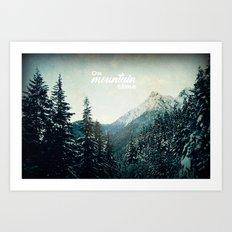 On Mountain Time Art Print