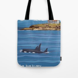 Vintage Poster - San Juan Islands National Monument, Washington (2015) Tote Bag