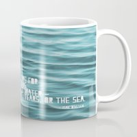 the cure Mugs featuring SaltWater Cure by Christine Hall