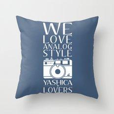 """We Love Analog"" Throw Pillow"
