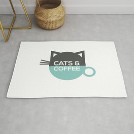 Cats and coffee Rug