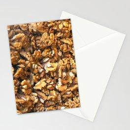 Close-Up Of Peeled Fresh Walnuts Background Stationery Cards