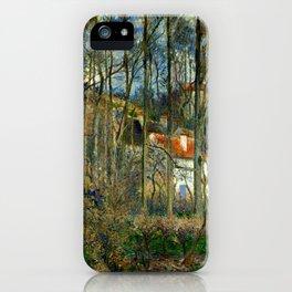 """Camille Pissarro """"The Côte des Bœufs at L'Hermitage"""" iPhone Case"""
