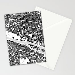 Paris building map Stationery Cards