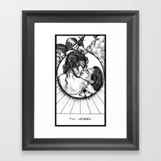 The Lovers Tarot Framed Art Print