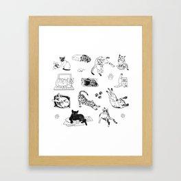 Cat Things Framed Art Print