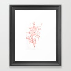 Abstract Lines, Linear Pyramid Space Framed Art Print