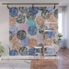 Thumbprint Dots Wall Mural