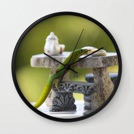 Breakfast with Geko Wall Clock
