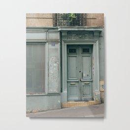 Paris Door Metal Print