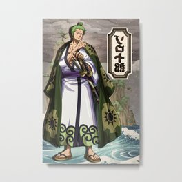 Zoro wano  - One piece Metal Print