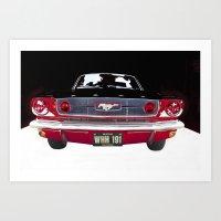 Vintage Mustang Classic Car Art Print