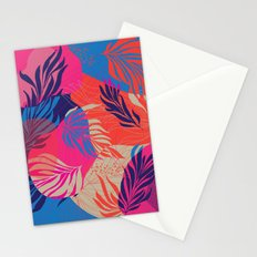 Magenta Leaves Stationery Cards