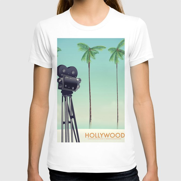 Hollywood Travel poster T-shirt