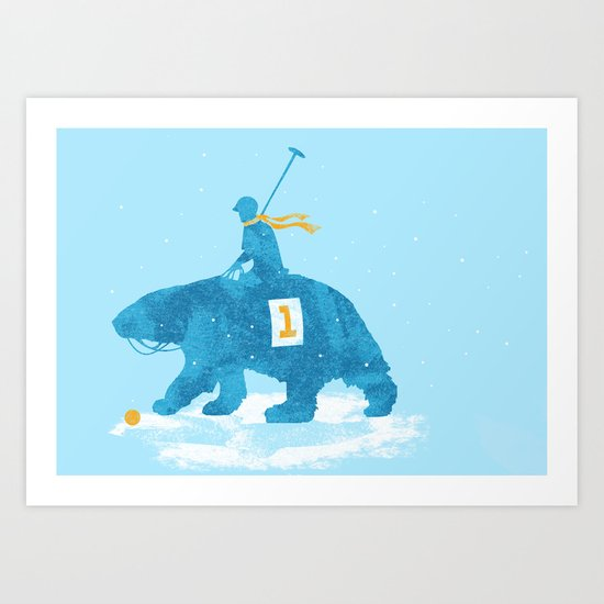 the polar games Art Print
