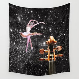 Violin and Ballet Dancer number 1 Wall Tapestry