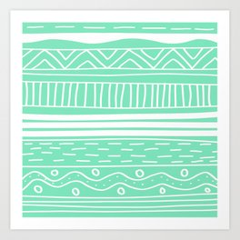 Carnival Glass Stripes Art Print